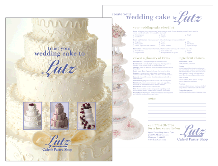 wedding cake brochure templates wedding cake brochure design cover collateral w a 22105